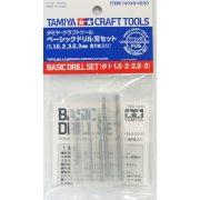 Tamiya 74049 fúrószárak 5db (1,0-1,5-2,0-2,5-3,0 mm)