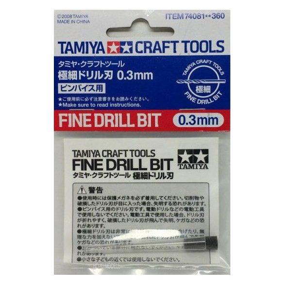 Tamiya 74081 fúrószár 1db (0,3mm)