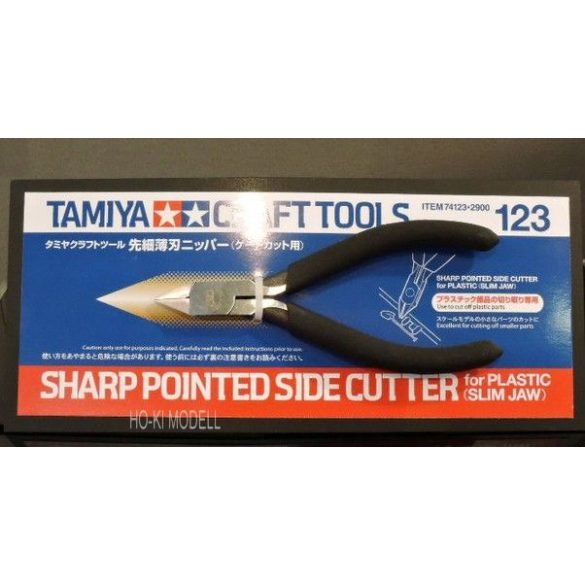 Tamiya 74123 oldalcsípő fogó éles,hegyes. (kizárólag műanyag alkatrészekhez)