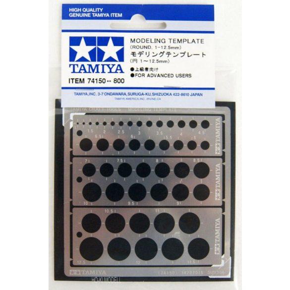 Tamiya 74150 Modellező Sablon (Kör 1-12.5mm)