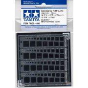 Tamiya 74156 Modellező Sablon (Négyzet1-10mm)