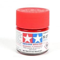 Tamiya 81527 MINI X-27 CLEAR RED