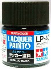 Tamiya 82140 LP-40 Metallic Black - Gloss
