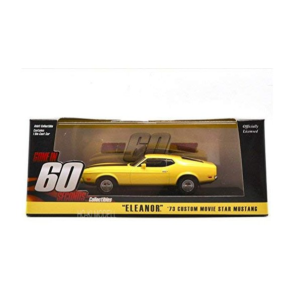 Greenlight 86412 1973 Ford Mustang Mach 1 Yellow Eleanor
