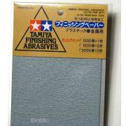 Tamiya 87024 Finishing Abrasives - Csiszolópapírok (1200, 1500, 2000)