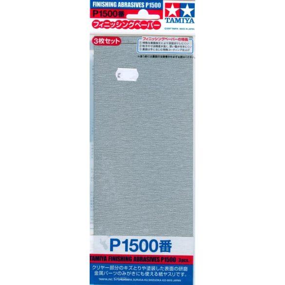 Tamiya 87059 Finishing Abrasives P1500 -  Csiszolópapír