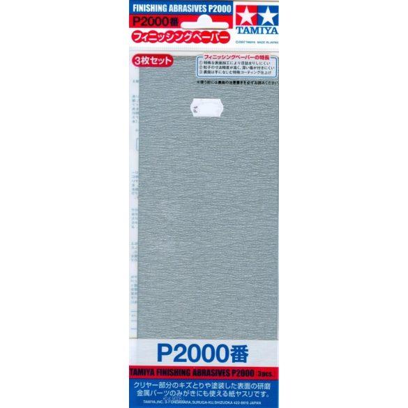 Tamiya 87060 Finishing Abrasives P2000 -  Csiszolópapír