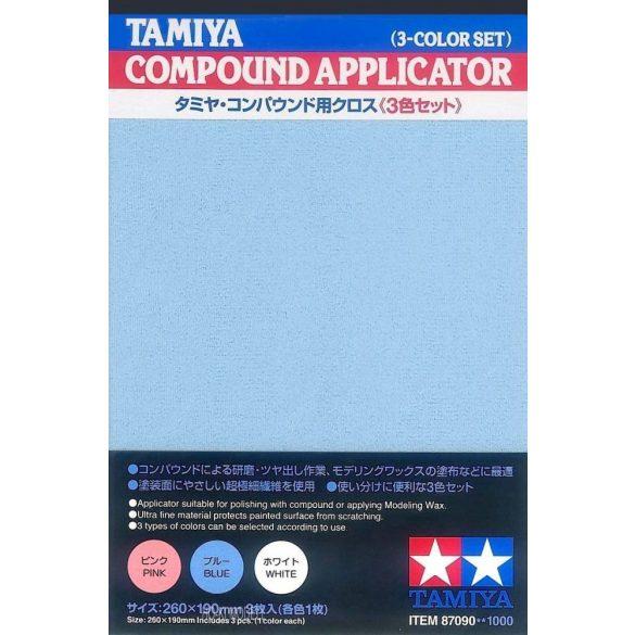 Tamiya 87090 Compound Applikátor  3 különböző színű anyag (260x190mm x3pcs)
