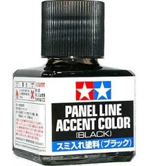 Tamiya 87131 Panelvonal  kihúzó folyadék Fekete 40 ml.
