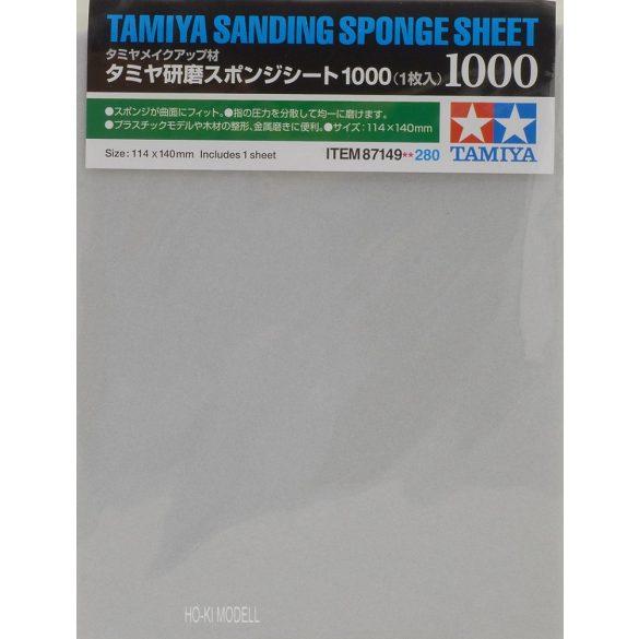 Tamiya 87149  Sanding Sponge Sheet - 1000  Tamiya csiszoló szivacs lap