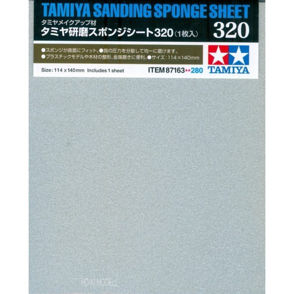 Tamiya 87163 csiszoló szivacs lap 320