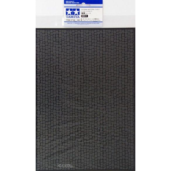 Tamiya 87166 Dioráma Anyaglap (szürke színű Kőburkolat )