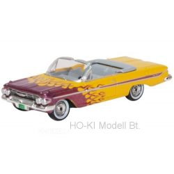 Oxford CI61004 Chevrolet Impala Convertible, yellow/metallic-violet, Hot Rod, 1961