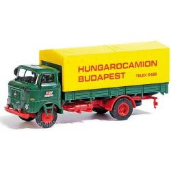 Busch 95112 IFA W 50L Platós Ponyvás Teherautó - Hungarocamion Budapest