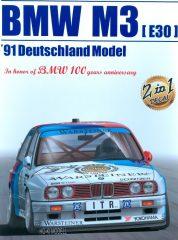 Aoshima - Beemax 24007 BMW M3 E30 1991 Deutschland Model