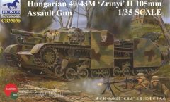 "Bronco CB35036 Hungarian 40/43M ""Zrinyi"" II 105mm Assault Gun"