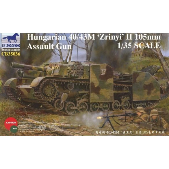 "Bronco Models 35036 Hungarian 40/43M ""Zrinyi"" II 105mm Assault Gun"
