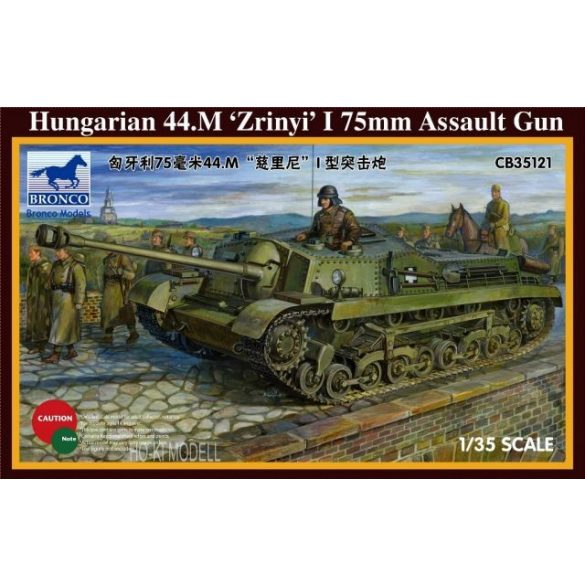 Bronco Models 35121 Hungarian 44.M Zrinyi I 75mm Assault Gun