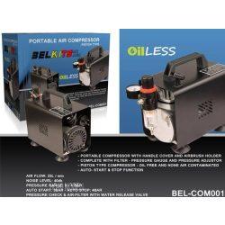 Belkits COM001 Egyhengeres, olaj,- és gondozásmentes levegőkompresszor