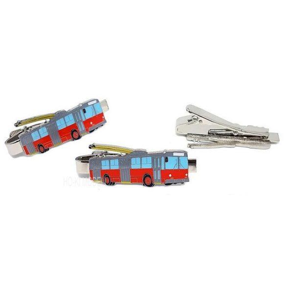 DOPS Models ZIU-9 BKV Trolibusz  Kitűző-Nyakkendőtű (Klipsz)