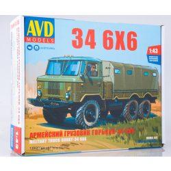 AVD Models 1390 KIT GAZ-34 6x6 Platós Ponyvás Teherautó
