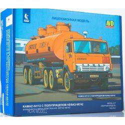 AVD Models 7061 KAMAZ-54112 Nyergesvontató NEFAZ-96742 Tartályos Pótkocsival