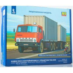 AVD Models 7067 KAMAZ-53212 Konténeres Teherautó GKB-8350 Pótkocsival