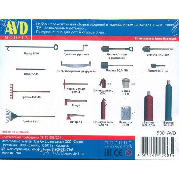 AVD Models S001 KIT  Garázs Felszerelések