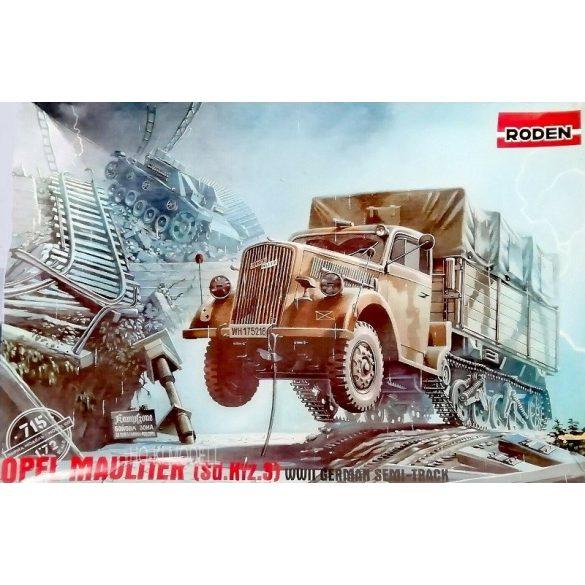 Roden 715  Opel Blitz Maultier Semi-Truck (SD.KFZ.3) German Army WWII