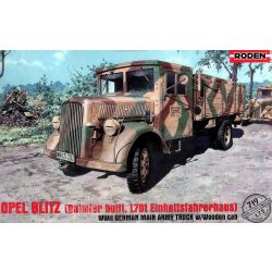Roden 719  Opel Blitz Daimler/Mercedes L701 Einheitsfahrerhaus WWII German Main Army Truck w/Wooden Cab
