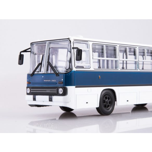 Sovetskij Avtobus SOV1036 Ikarus 260 Ráncajtós Autóbusz - Fehér/Kék