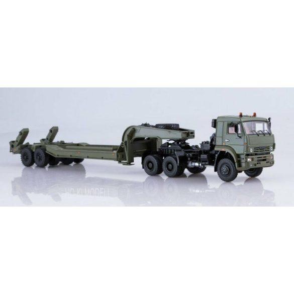 SSM 7050 KAMAZ-65225 Nyergesvontató CMZAP-5247G Nehézgép Szállító Trélerrel