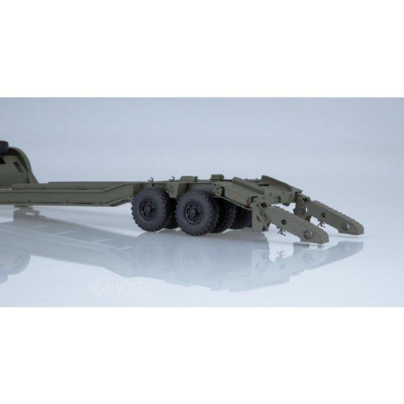 SSM 7051 KRAZ-255V Nyergesvontató CMZAP-5247G Nehézgép Szállító Trélerrel