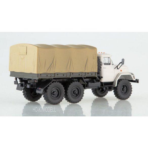 Russian Truck 1008 ZIL 131 Platós Ponyvás Teherautó
