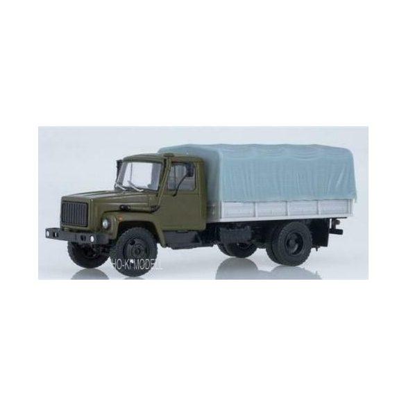 Rusian Truck 1015 GAZ 3309 Platós Ponyvás Teherautó