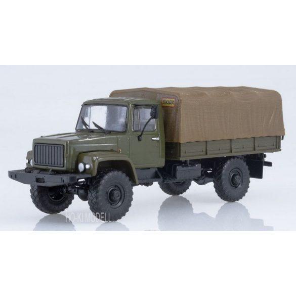 Russian Truck 1021  GAZ 3308 Platós Ponyvás Teherautó